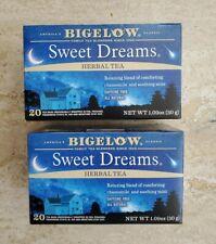 Bigelow Sweet Dreams Herbal Tea Chamomile Mint 2-Pack 40 bags Expires March 2023