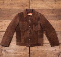"Mens Levis Vintage 1960's True Vintage Brown Suede Leather Jacket S 36""R2848"