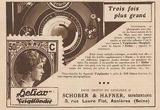 Y8791 Appareil Photo Voigtlander HELIAR - Pubblicità d'epoca - 1931 Old advert