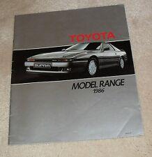 Toyota Brochure 1986 Supra MR2 Celica Corolla Coupe GT Land Cruiser Camry Carina