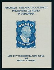 Brazil 1949, souv.sheet 10 Y no gum, as issued, very fine   |A18728