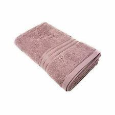 4 PIECE LUXURY STRIPED 100% EGYPTIAN COTTON SOFT ABSORBANT MAUVE TOWEL SET