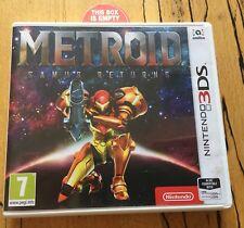 Promo Metroid Samus Returns Nintendo 3DS Replacement EMPTY Game Case