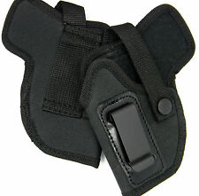 LEFT HAND IWB or OWB CLIP-ON HOLSTER w/ COMFORT TAB - S&W BODYGUARD 380 w/ LASER