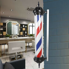 """Barber Shop Pole Sign Indoor Outdoor 41"""" Red Blue White Rotating Pole Light"""