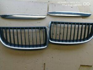 BMW E90 E91 PRE LCI FRONT GRILLS AND BONNET TRIMS PN 7120007