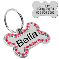 Double Sided Laser Etched Stainless Steel Pet Id Tag for Dog & Cat Tag