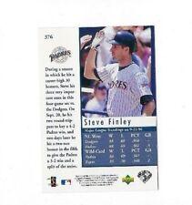 1997 UPPER DECK #376B WHITE BACK VARIATION STEVE FINLEY CARD NRMT UD 376 ERROR