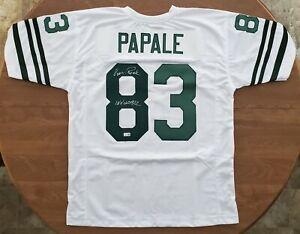 Vince Papale Signed Philadelphia Eagles Jersey Invincible Inscription TRISTAR