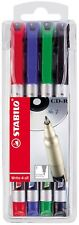 Stabilo Write 4 All Permanent Marker As Colours CD Plastic Rubber Glass Wood Etc