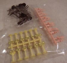Lot of HO Scale Plastic Model Train People, Signs, Signals, Power Line Poles NEW