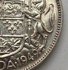 CANADA 1949 WIDE DATE 50 CENTS KING GEORGE VI  .800 SILVER  C2