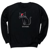David Meowie unisex jumper sweatshirt pullover cat animal meow dog fur pet love