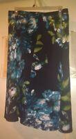 Dress Barn floral elastic waist skirt size 18W