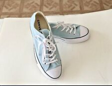 Womens Light Blue Converse Chuck Taylor Platform Lo Lift Sneaker  - Size 9.5