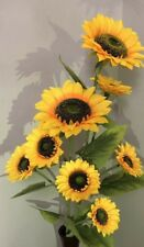 Girasoles Artificiales Decoration home Sunflowers Hogar Espiga Tres Girasoles
