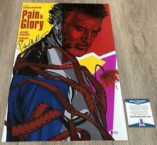 PEDRO ALMODOVAR SIGNED PAIN AND GLORY 12x18 PHOTO w/EXACT PROOF BECKETT BAS COA