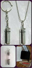HOLLOW CROSS  2pc.Special Set - Anointing Oil Holder Necklace & Keychain w/Pouch