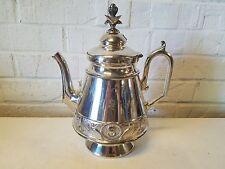 Mermod & Jaccard Jewelry Co. St. Louis Silver Plated Teapot w/ Flower & Bird Dec