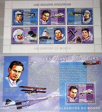 Congo del Congo 2006 KLB + 3 blocchi piloti Pilots aerei Airplanes Aviation MNH