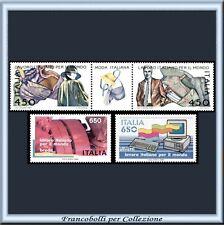 1986 Italia Repubblica Lavoro Italiano Mondo 1775/1778