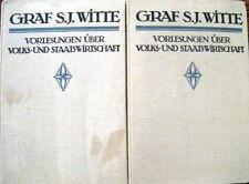 Vorlesungen über Volks- und Staatswirtschaft Graf S.J.Witte Band 1 und 2 1913