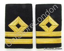 Épaulette Marchande Bleu Marine Seconde Officer - Pont À Enfiler A18 R930