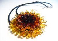 Elegante Natürlich Baltischer Bernsteinkette Blume !!!