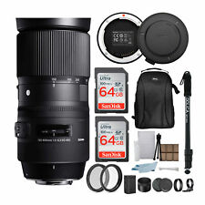 Sigma 150-600mm f/5-6.3 DG OS HSM Contemporary Lens (Nikon) with USB Dock Bundle