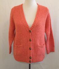 Talbots Women's Cardigan Sweater Button Down 3/4 Sleeve Size LP Salmon New $99