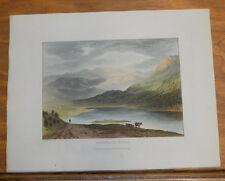 1821 Print, Aquatint Tour of English Lakes///ESTHWAITE WATER