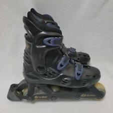 Rollerball Mens Roller Skate Shoes Black Blue Adjustable Hook And Loop 6