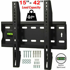 TV Wall Bracket Mount Slim Fixed For 15 21 24 30 32 37 42 inch 3D LCD LED Plasma