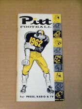 1962 Pitt Panthers, Football Media Guide, Complete
