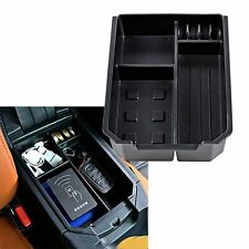 Black Center Console Armrest Secondary Storage Box Tray For TOYOTA RAV4 2014-16
