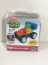 NEW TRIO FISHER PRICE RACE CAR
