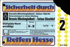 Ticket BL 82/83 Borussia Mönchengladbach - Fortuna Düsseldorf
