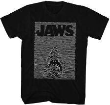 Jaws-JawsDivision-Joy Division take-off-Large Black T-shirt