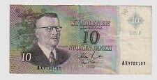 Finlandia Finland  10  marchi   1963  BB  G   pick 104  replacement  lotto 823