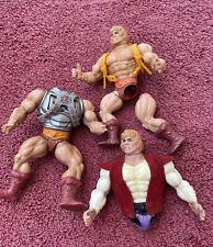 Vintage 1980s Mattel Original He-Man Figures for Parts or Repair Soft Heads