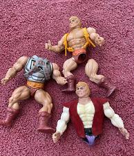 Vintage 1980s Mattel Original He-Man Figures for Parts or Repair Soft Heads