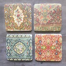Set Of 4 Liberty Print Style Coasters Retro Shabby Vintage Chic Style Kitchen