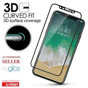 iPhone 13 12 11 Pro Max X XR 8 6+ 3D NUGLAS Tempered Glass Full Screen Protector