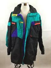 Vintage Helly Hansen Equipe Ski Jacket XL Color Block Boarding Hood Black