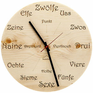 Huamet Wall Clock Swiss Pine Dialect Round CH40-A-1605
