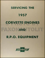 1956-1957 Corvette Engine RPO Repair Manual  Fuel Injection Positraction 4 Speed