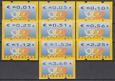 Bund ATM 4.1 TS 1/ VS 1 ** 2002 Postemblem  10 Werte postfrisch
