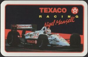 Playing Cards Single Card Old Vintage * TEXACO F1 Car RACING Advertising MANSELL