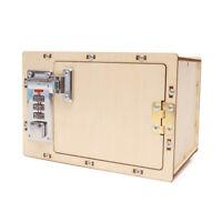 KE_ AU_ Mechanical Password Box Building Model Science Experiment Kit Educatio