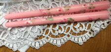 Hp Shabby Cottage Roses Candles Taper Pink French Chic Victorian Hand Painted